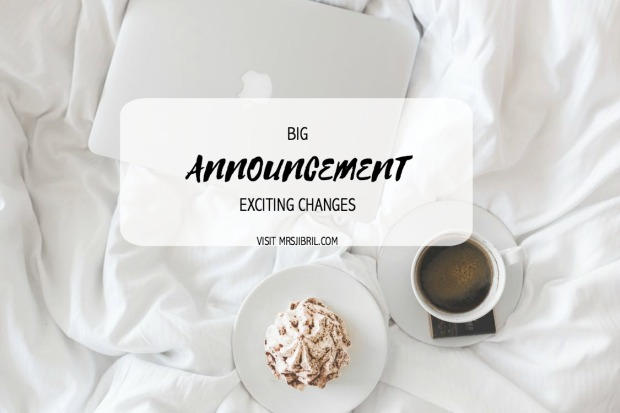 Big Exciting Announcement