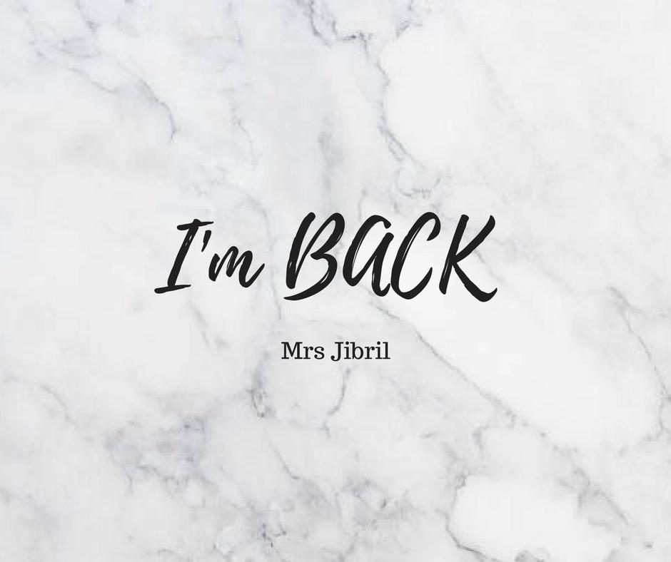 I'm back to Blogging